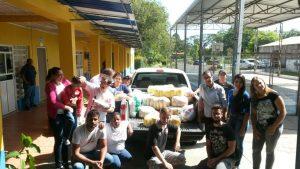 Doação de alimentos na APAE