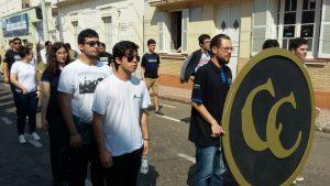Participação de estudantes do curso na Caminhada Cívica de Alegrete/RS em 2017.