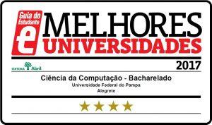 Curso de Ciência da Computação da Unipampa é 4 estrelas no Guia do Estudante da Editora Abril.