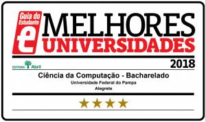Curso de Ciência da Computação é quatro estrelas no Guia do Estudante 2018 da Editora Abril