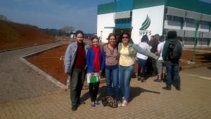 Professores André e Ângela e Discentes Gabriela e Susete na UFFS