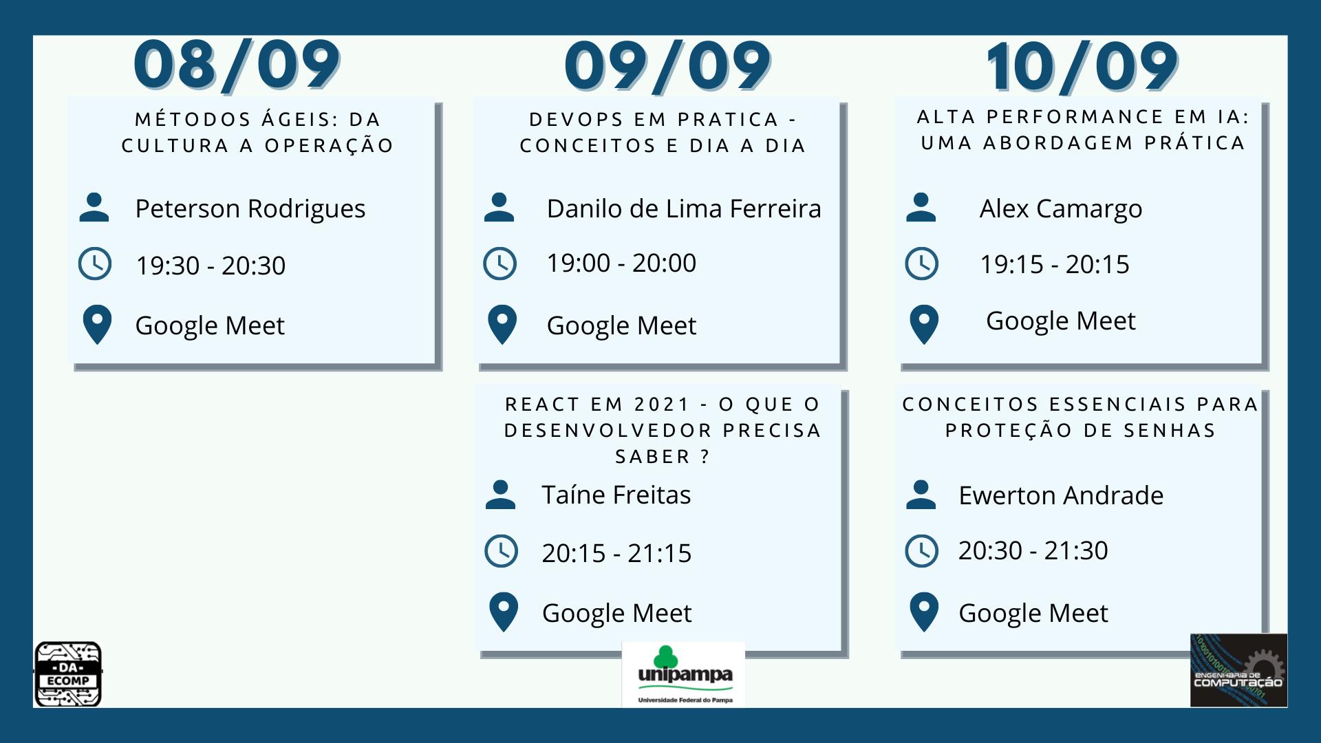 Semana acadêmica Novo Cronograma