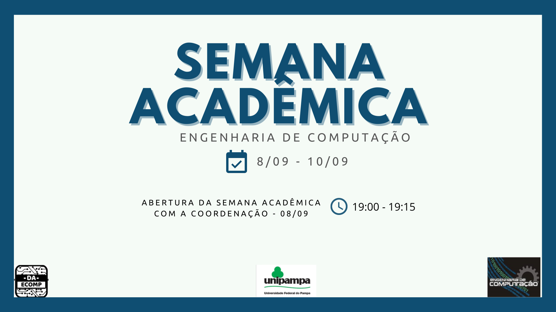 Divulgação Semana Acadêmica EC