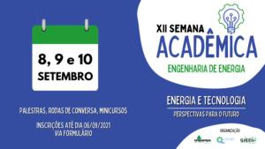XII Semana acadêmica