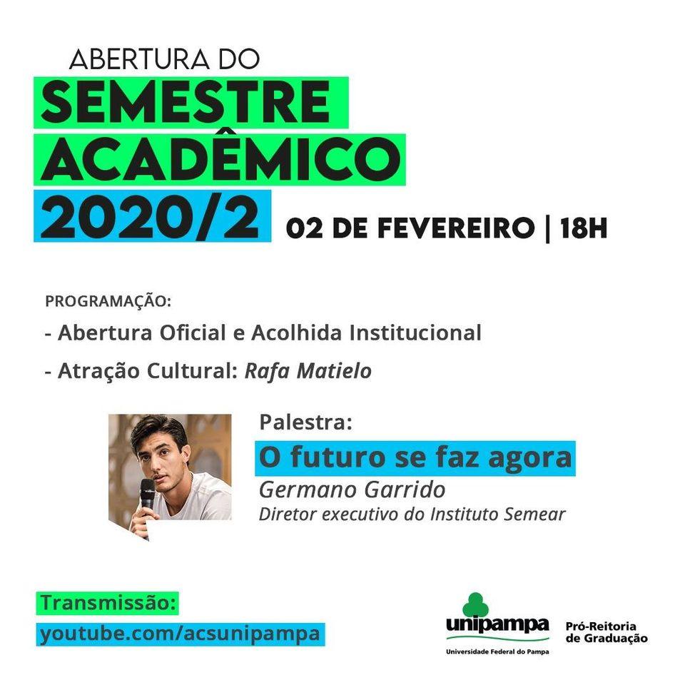 Abertura do Semestre Acadêmico 2020/02
