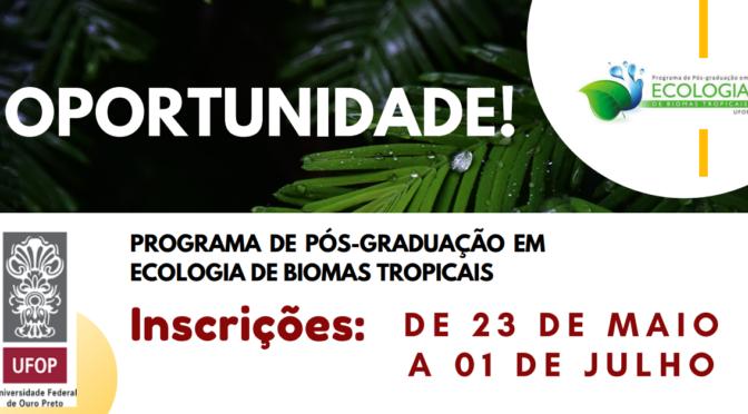 Pós Graduação em Ecologia de Biomas Tropicais UFOP