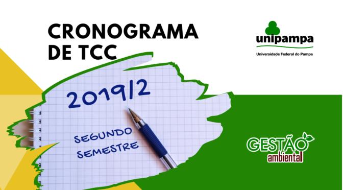 Programação das Defesas de TCC 2019/2