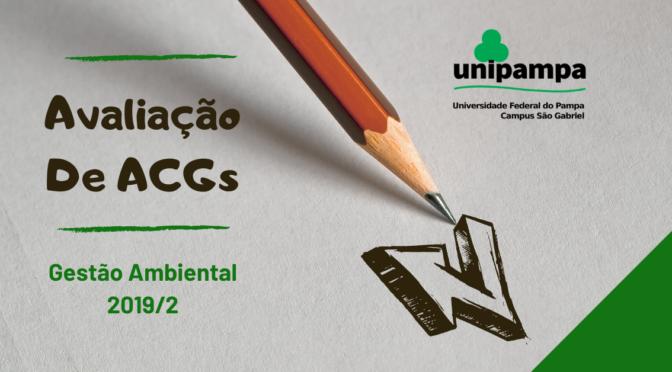 Avaliação de ACGs do Bacharelado em Gestão Ambiental 2019/2